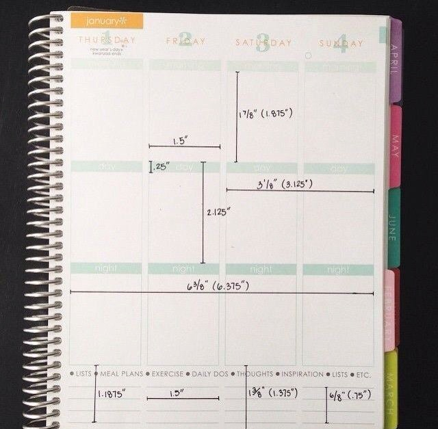 Vertical Planner Measurements | My Erin Condren