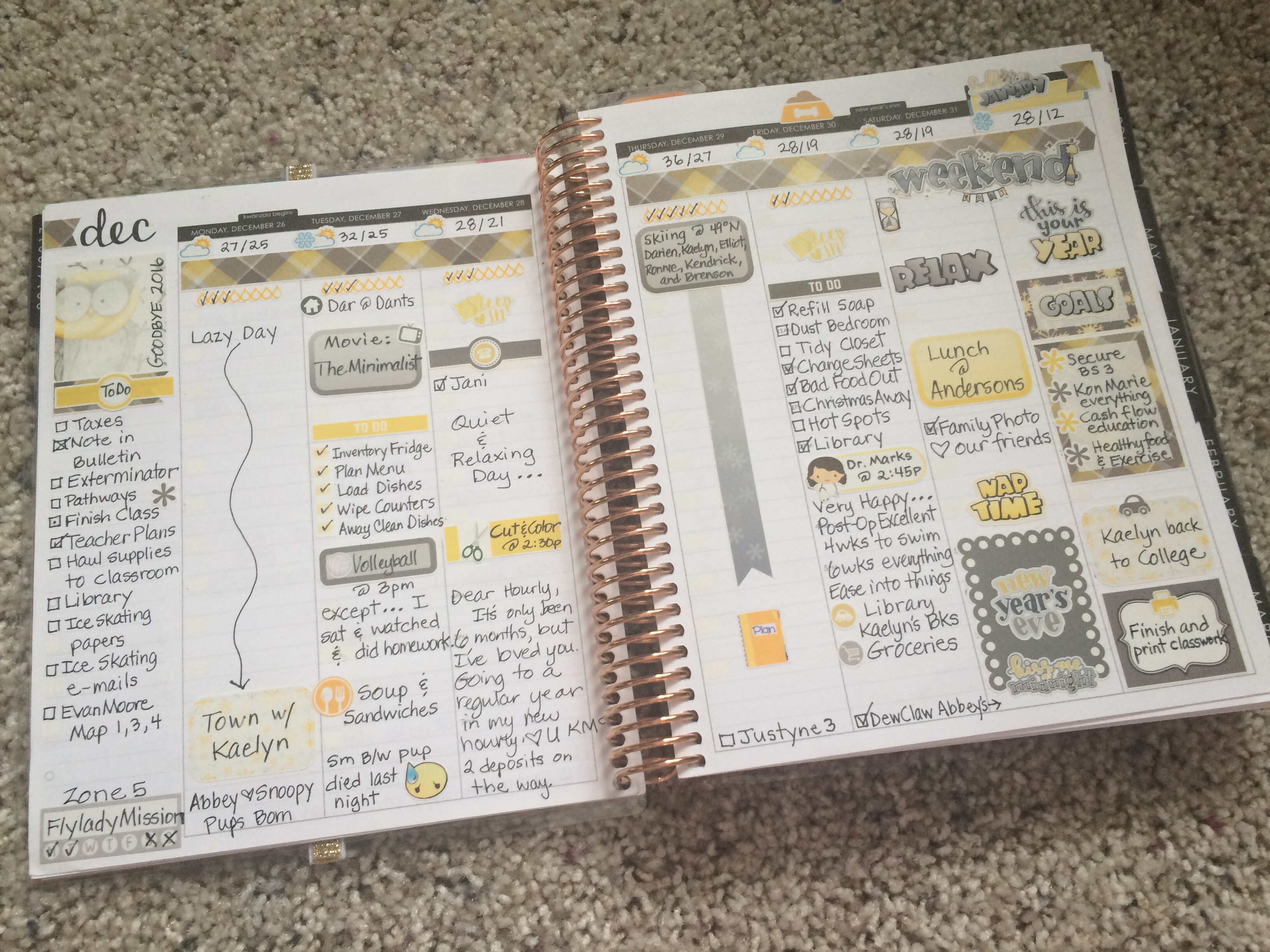 weekly layouts my erin condren